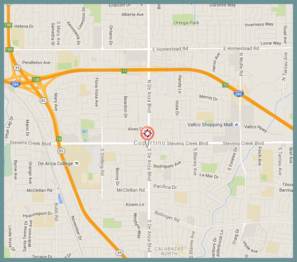 Cupertino Branch Map