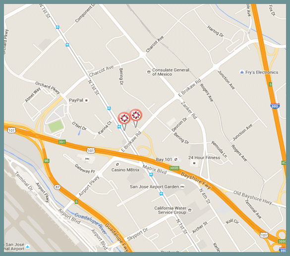 San Jose HQ Branch Map