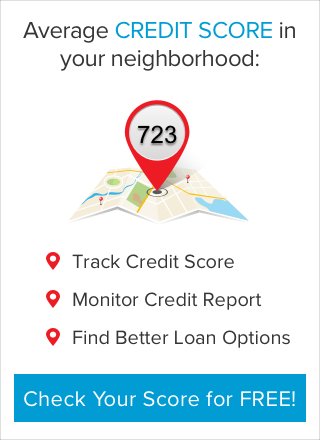 Before enrollment, average credit score in your neighborhood is available.