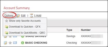 options for QuickBooks